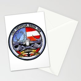 USS GEORGIA (SSGN-729) PATCH Stationery Cards