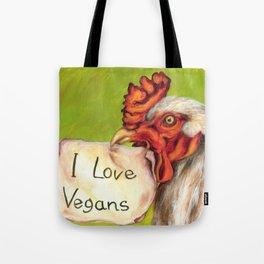 I Love Vegans! Tote Bag