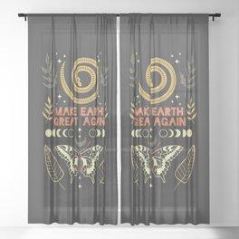 Make Earth Great Again Sheer Curtain