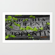 Overgrown Nature Art Print