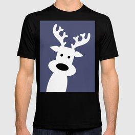 Reindeer on blue background T-shirt
