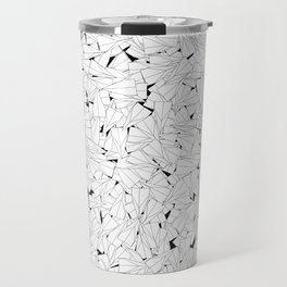 Paper planes B&W / Lineart texture of paper planes Travel Mug