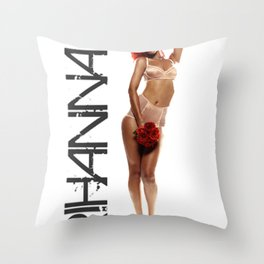 Rated Rihanna Throw Pillow