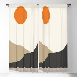 abstract minimal 47 Blackout Curtain