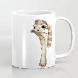 Ostrich in a Coonskin Hat Coffee Mug