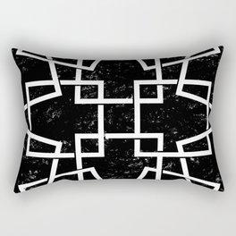 Black and White Minimalist Geomentric Rectangular Pillow