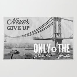 Never Give Up. Rug