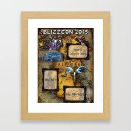 BlizzCon Photo Poster Framed Art Print