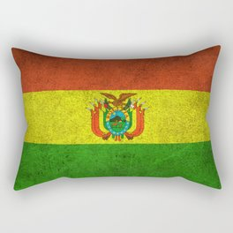 Old and Worn Distressed Vintage Flag of Bolivia Rectangular Pillow