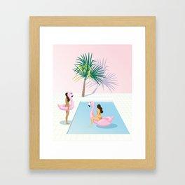 the midday heat Framed Art Print