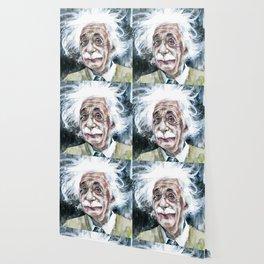 ALBERT EINSTEIN - watercolor portrait.7 Wallpaper