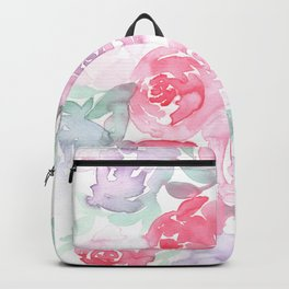 Pink and Purple Roses Backpack