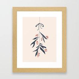 Mistletoe and love Framed Art Print