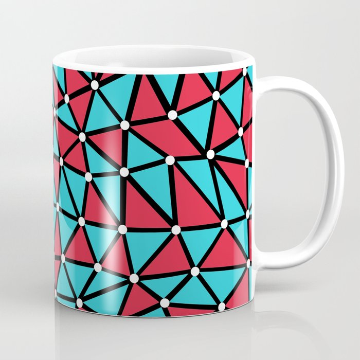 African Triangles Red and Blue Coffee Mug