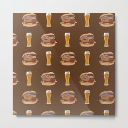 Burgers and Beer Metal Print