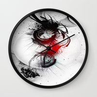 women Wall Clocks featuring women by  MuDi