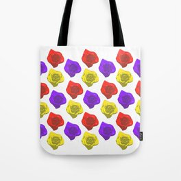 Candy Roses (Red x Purple x Yellow) Tote Bag