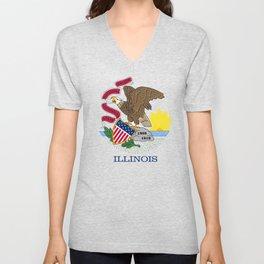 State flag of Illinois Unisex V-Neck