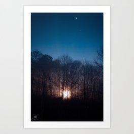 Moon Rays Art Print
