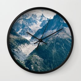 Chamonix, France #society6 #decor #buyart Wall Clock