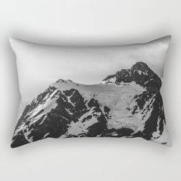 Shuksan Shine Black and White Rectangular Pillow