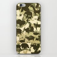 camouflage iPhone & iPod Skins featuring Camouflage by Diego Tirigall