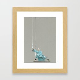 Paths to the waterfall - three - Tai Chi Framed Art Print