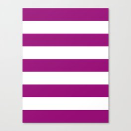 Fuchsia Stripes Canvas Print
