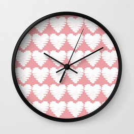 Heart pattern / pink icing Wall Clock