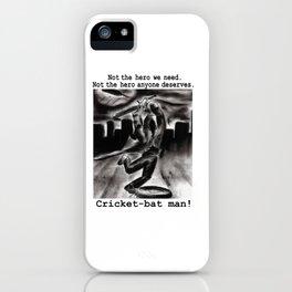 Cricket Bat Man iPhone Case