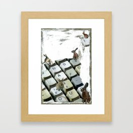 """Words Per Minute"" Framed Art Print"