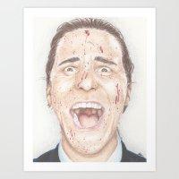 american psycho Art Prints featuring American Psycho by JadeJonesArt
