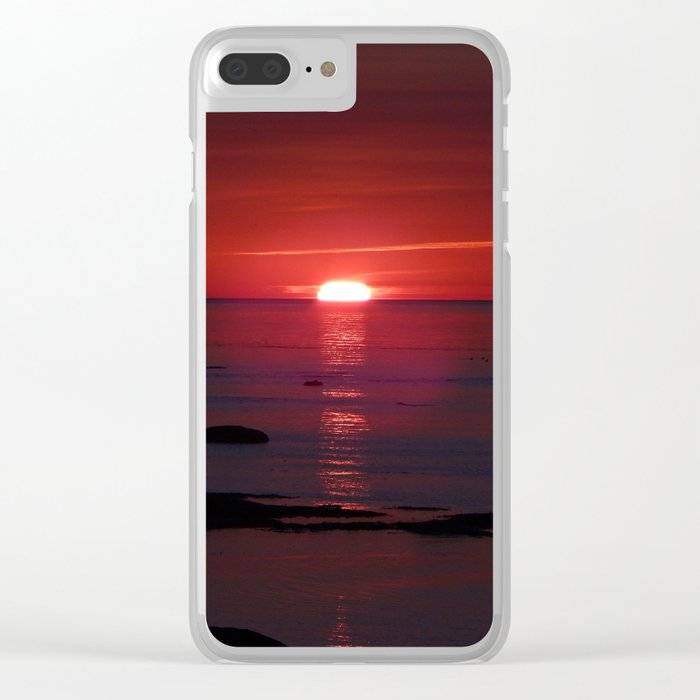 Red Skies Before Dusk Clear iPhone Case