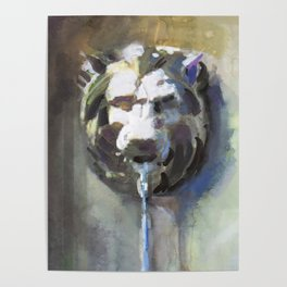 Lionhead Fountain Poster