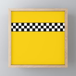 NY Taxi Cab Cosplay Framed Mini Art Print