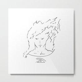 Torch minimalist portrait Metal Print