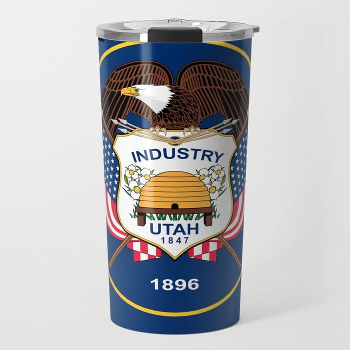 Utah State Flag - Authentic Version Travel Mug