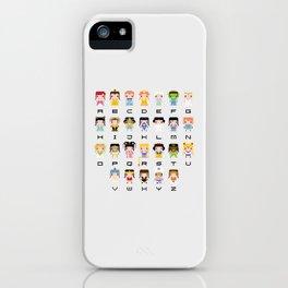 Princess Alphabet iPhone Case