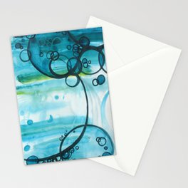 the blue tree Stationery Cards