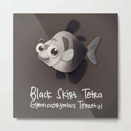 Skirt Tetra Fish Metal Print