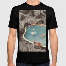 is this the place that they call paradise? Black Mens Fitted Tee X-LARGE