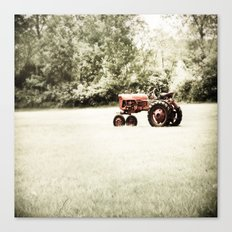 Vintage Red Tractor Canvas Print