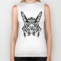 bunny Biker Tanks featuring Bunny by Vasco Vicente