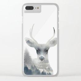 Fearless  winter deer Clear iPhone Case