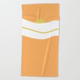 """ Orange days "" Beach Towel"
