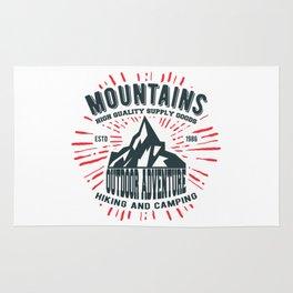Mountains stamp print design Rug