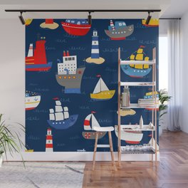 Sailing Away Out To Sea Wall Mural