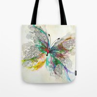 butterfly Tote Bags featuring Butterfly by Klara Acel