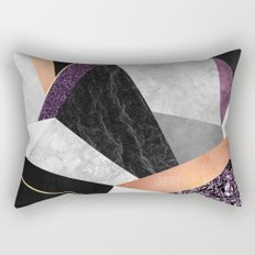 Purple Geo Rectangular Pillow