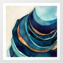 Abstract Blue with Gold by spacefrogdesigns